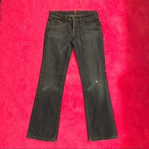 7 for All Mankind Jeans Dark Blue Sz 28 Boot Cut